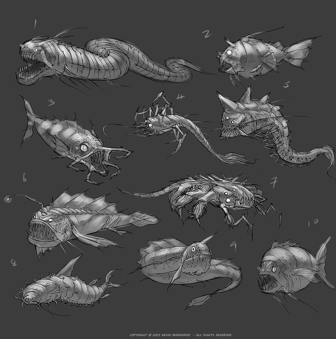 Deep Sea Creatures Thumbnails