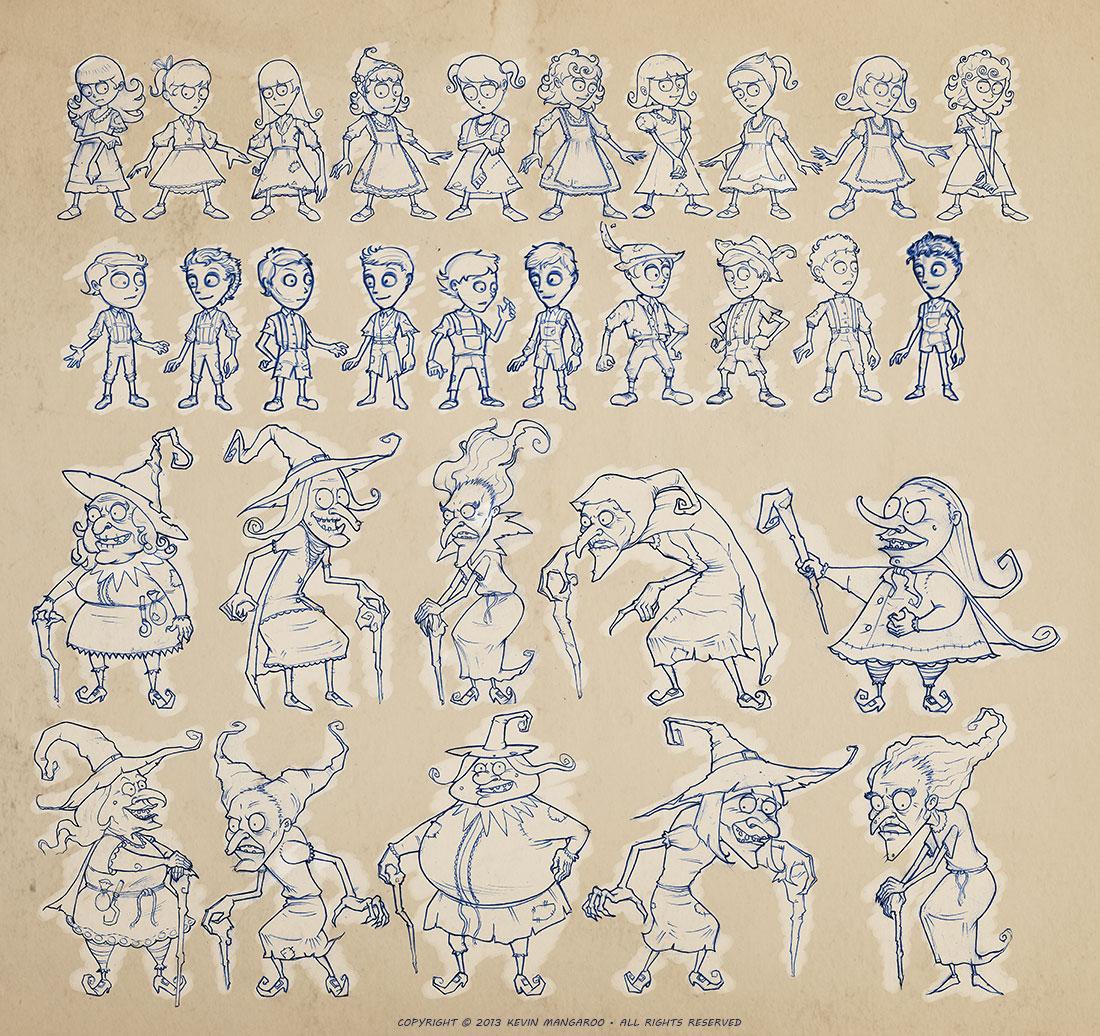 Hansel and Gretel - Tim Burton Style - Thumbnails
